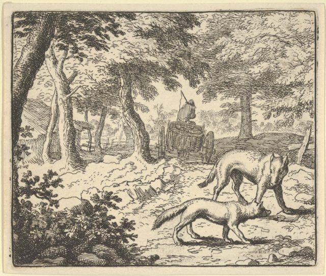 The Wolf Accuses Renard of Eating the Fish that He Stole from Hendrick van Alcmar's Renard The Fox