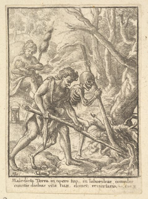 Adam Ploughing  from the Dance of Death