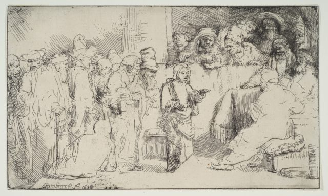 Christ Disputing with the Doctors; a sketch