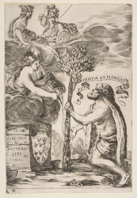 Frontispiece for Il Mercurio, III: Hercules Planting His Club