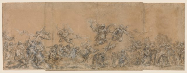 Study for Angels Sealing the Foreheads of the Children of Israel in Saint Peter's Basilica