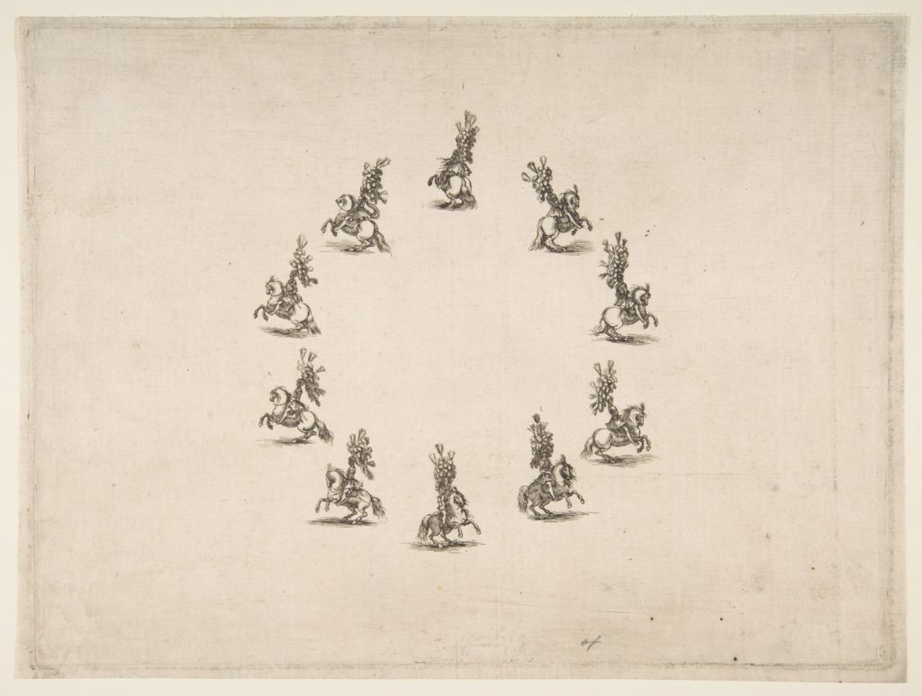Ten Cavaliers Forming a Circle