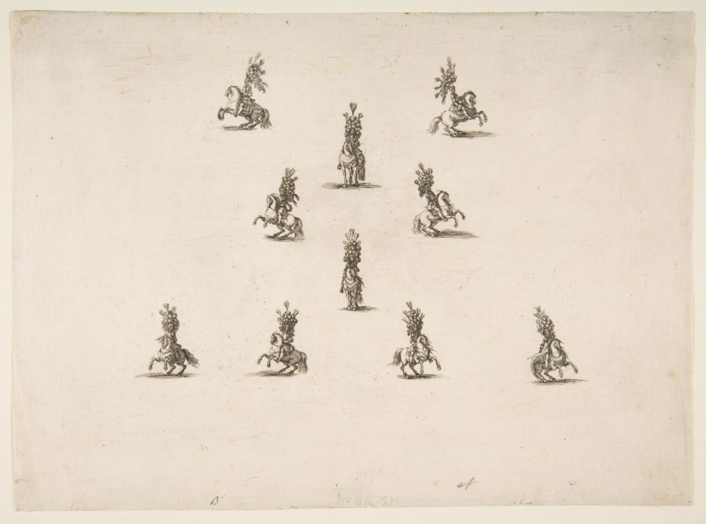 Ten Cavaliers Including Five Forming a V