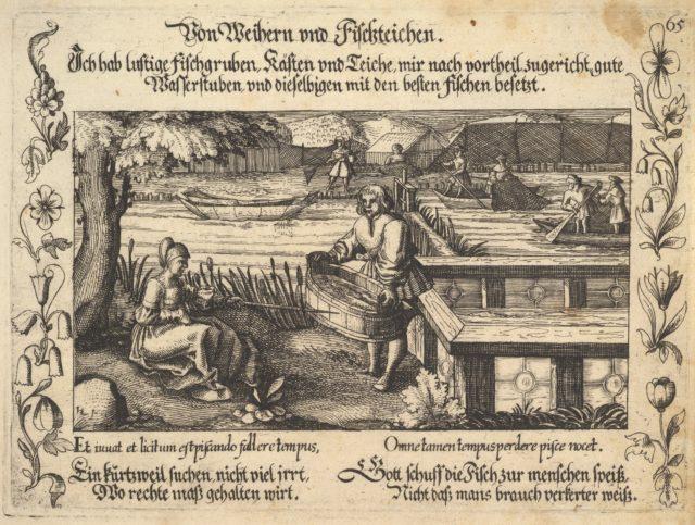 Von Weihern und Fischteichen, illustration from Petrarch, Glück und Unglück Spiegel, figure 65