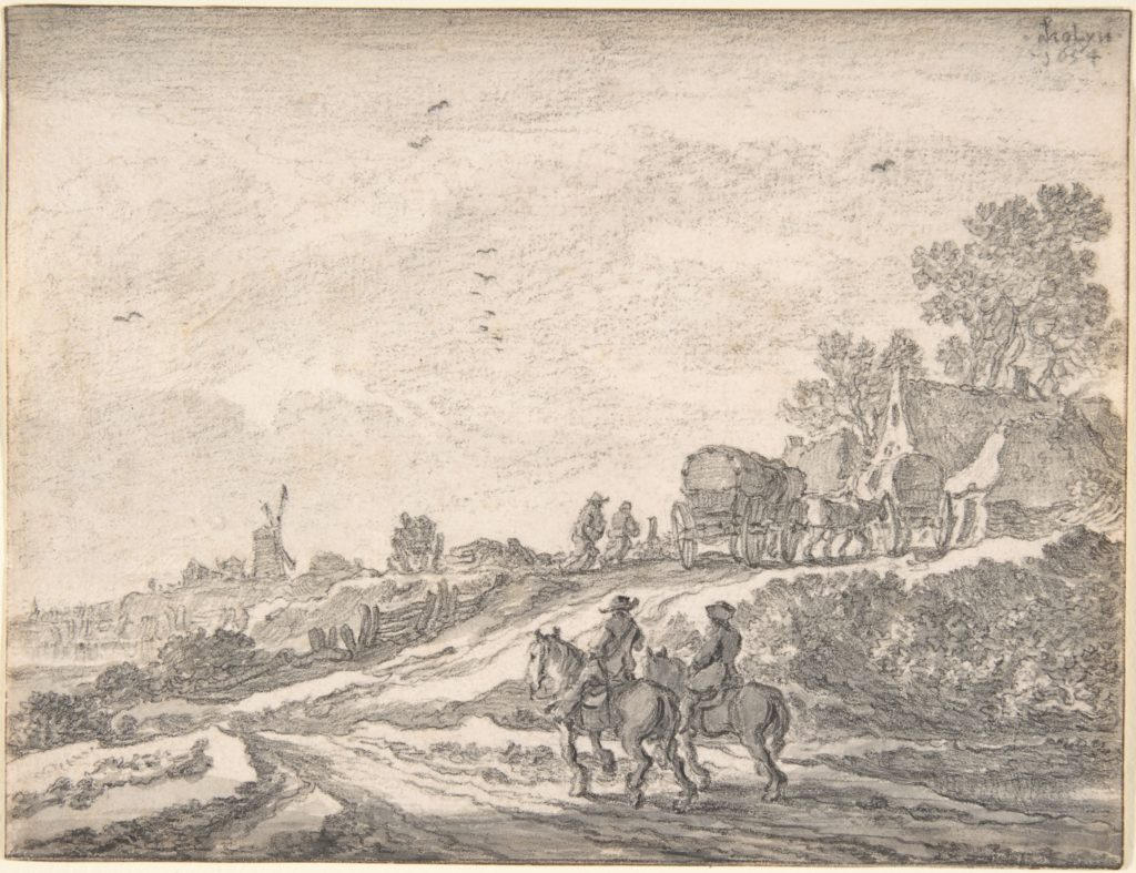 Landscape with Two Men on Horseback