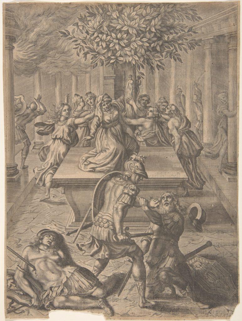 The Sack of Troy–Pyrrhus Killing Priam