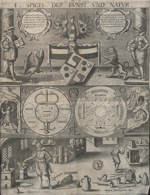 Cabala, Speculum Artis Et Naturae In Alchymia by Stephan Michelspacher (1654) (dresden)