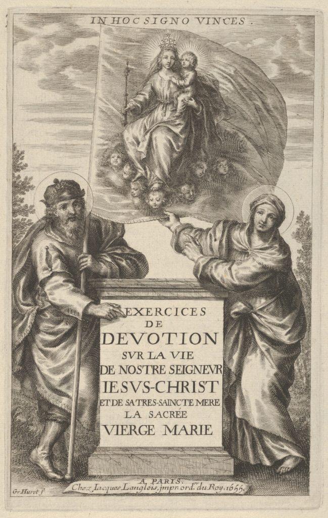 Frontispiece for Exercises de Devotion sur la Vie de Nostre Seigneur Iesus-Christ [...]