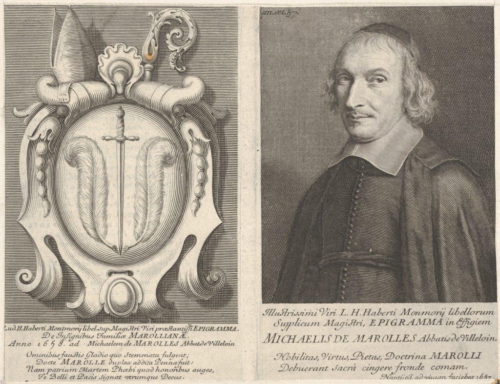 L'Abbé de Marolles (with coat of arms)