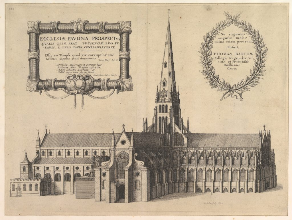 Saint Paul's from the South Showing the Spire (Ecclesiae Paulinae Prospectus...)