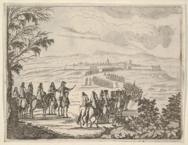 Francesco I d'Este Goes to Pinarola for the Security of his States, from L'Idea di un Principe ed Eroe Cristiano in Francesco I d'Este, di Modena e Reggio Duca VIII [...]