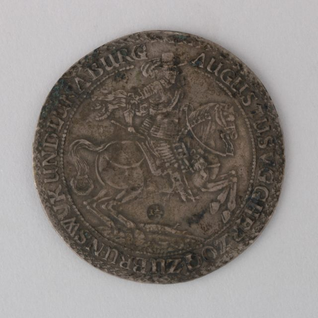 Coin (One and One-Half Thaler) Showing Augustus V, Duke of Brunswick-Luneburg