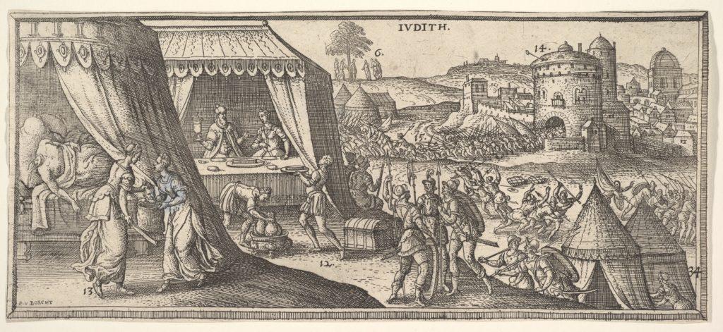 Judith, illustration to Hendrik Jansen van Barrefelt, called Hiel, Biblesche figuren ofte afbeeldingen...