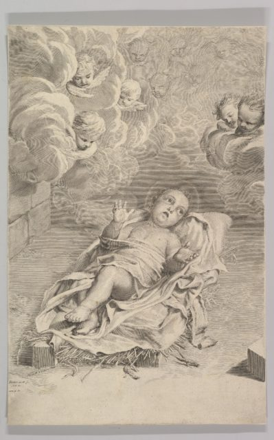 The Christ Child on a Bed of Straw