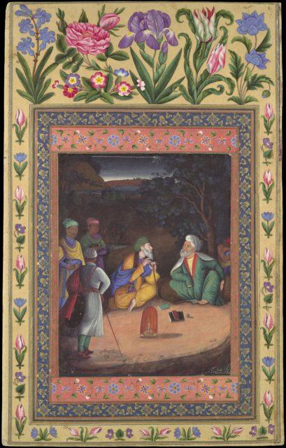 """A Nighttime Gathering"", Folio from the Davis Album"