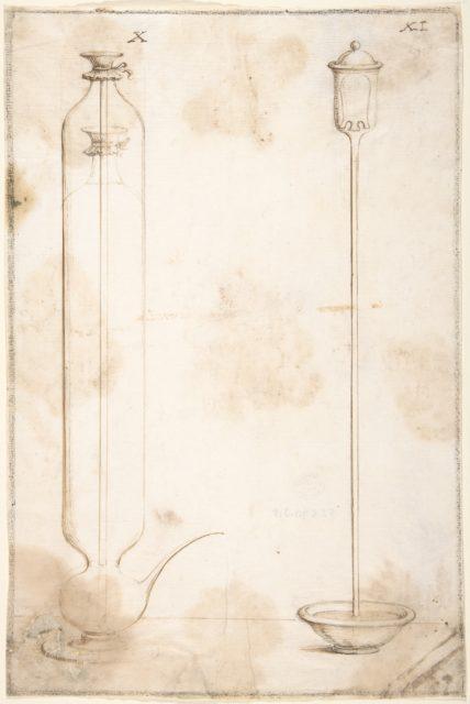 "Two Glass Containers for Scientific Experiments with Liquids (Illustrations for ""Saggi di naturali esperienze"")"