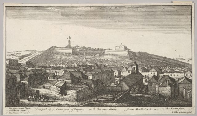 Prospect of the inner part of Tangier, with the upper Castle, from South-East