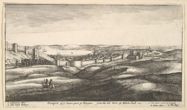 Prospect of ye lower part of Tangier, from the hill West of White-hall