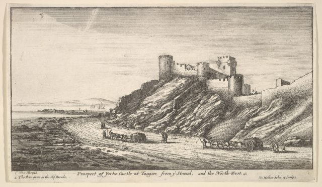 Prospect of Yorke Castle at Tangier, from ye Strand, and the North-West