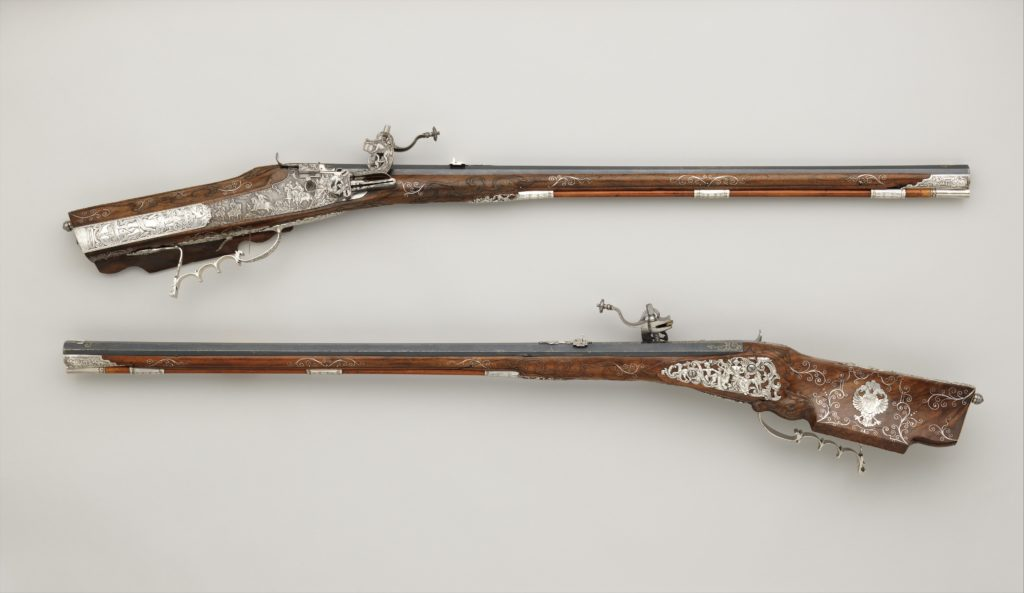 Pair of Wheellock Rifles Made for Emperor Leopold I (1640–1705)