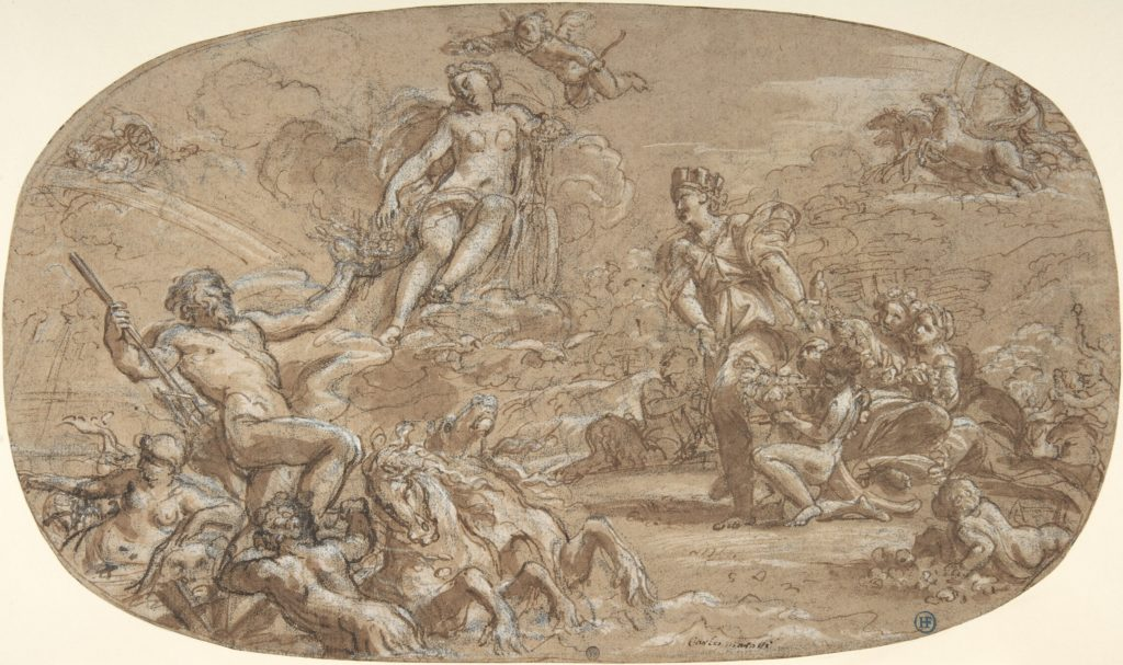 The Birth of Venus, with Neptune, Cybele and the Chariot of the Sun (Homage to Venus)