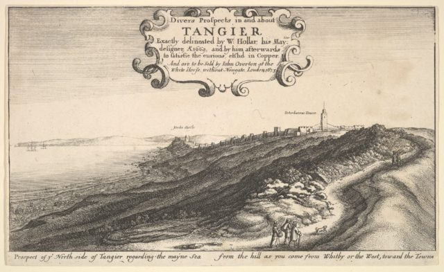 Prospect of ye North side of Tangier regarding the mayne Sea from the hill as you come from Whitby or the West, toward the Towne