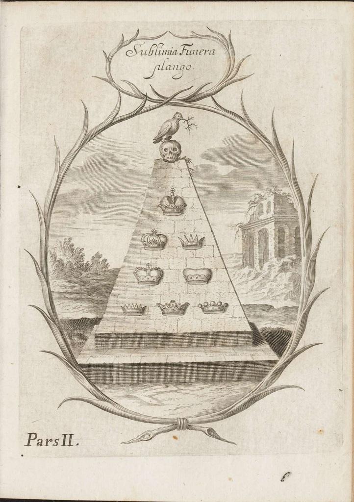 Theatrum Funebre by Otto Aicher (1673) a
