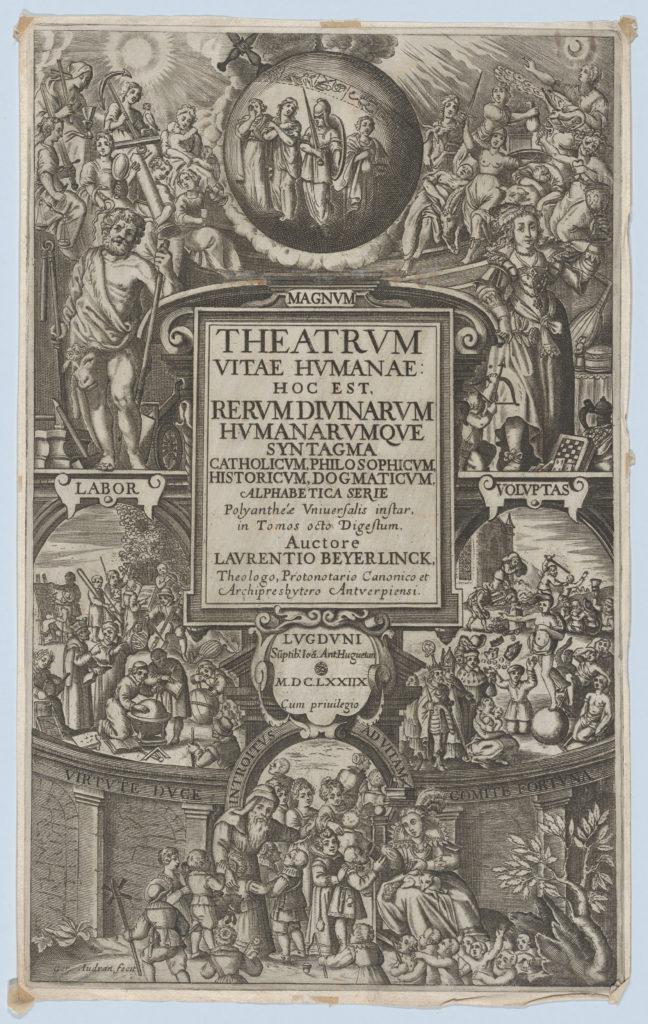 Frontispiece for 'Theatrum Vitae Humanae'
