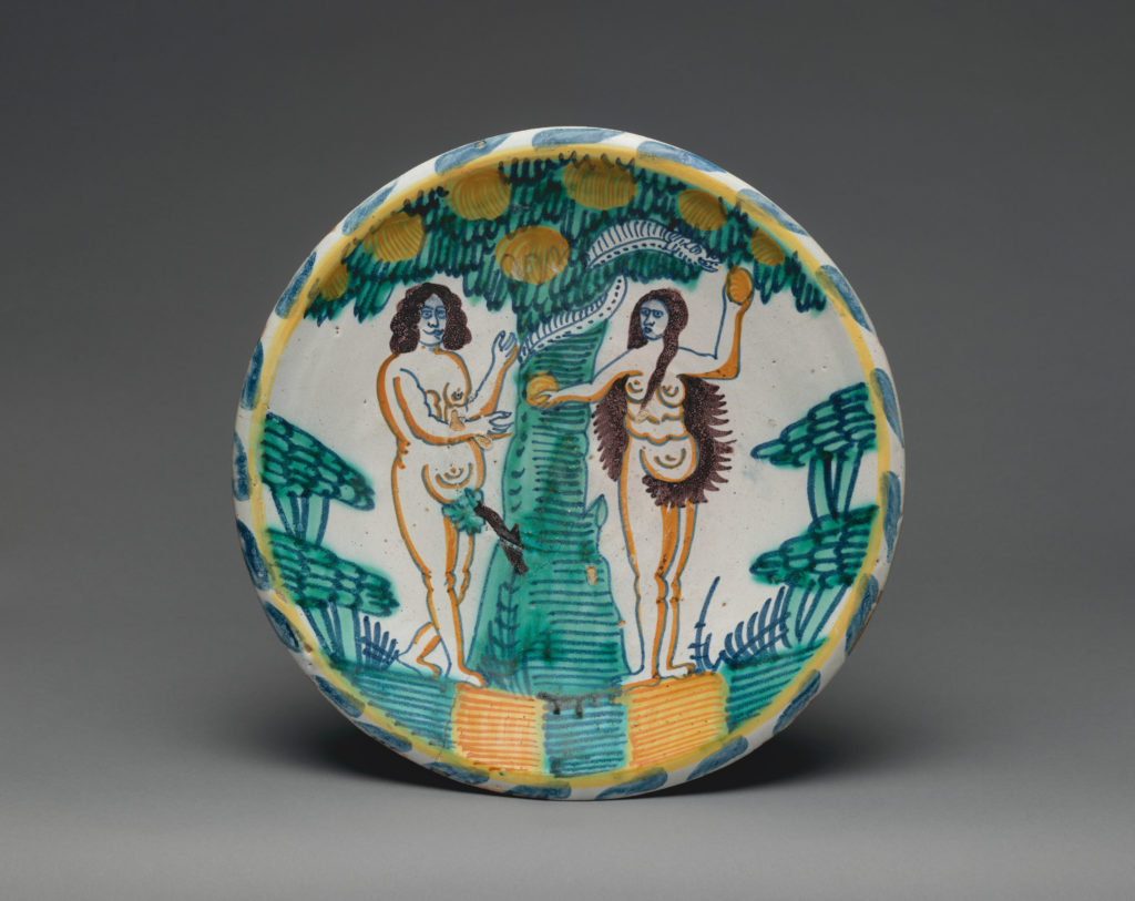 Dish with Temptation of Adam and Eve