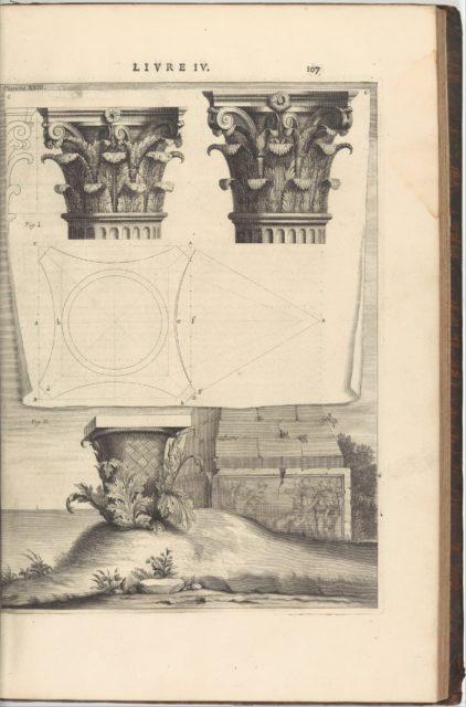 Les dix livres d'Architecture de Vitruve, corrigez et traduits nouvellement en François, avec notes & de figures