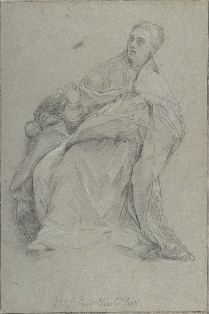 Study for a Seated Prelate (Saint Gergory the Great)