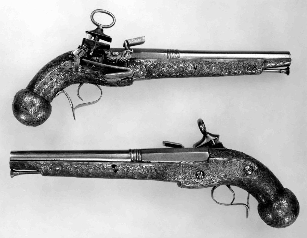 Pair of Miquelet Flintlock Pistols
