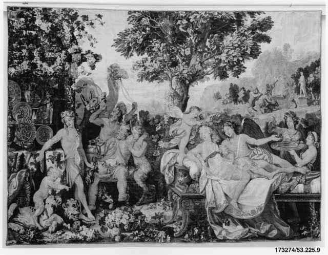 The Festival of Psyche, with Bacchus from a set of Mythological Subjects after Giulio Romano