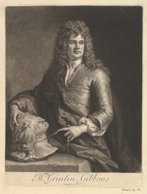 Portrait of Grinling Gibbons