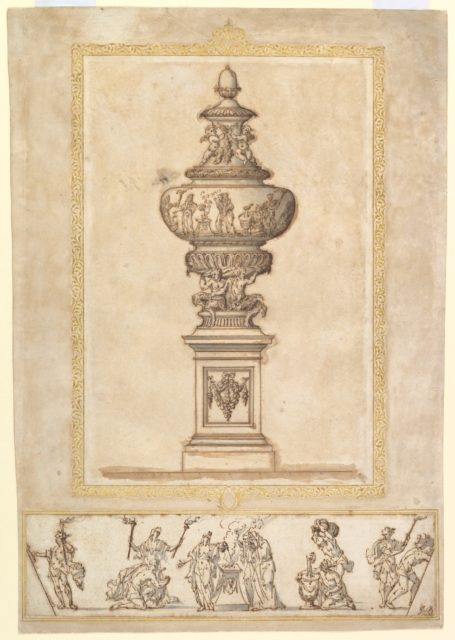 Study of an Urn; Study for the Frieze Decoration around the Urn