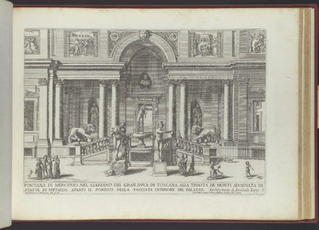 Fontana di Mercurio nel Giardino del Gran Duca di Toscana (...), from 'La Fontane di Roma nelle Piazze e Luoghi Publici (...)', part 3, 'Le Fontane ne' Palazzi di Roma' (plate 9)