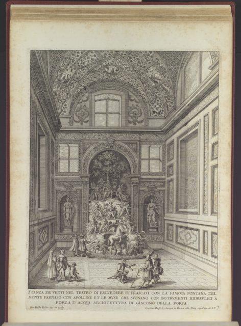 Stanza de Venti nel Teatro di Belvedere di Frascati (...), from 'La Fontane di Roma nelle Piazze e Luoghi Publici (...)', part 2, 'Le fontane delle ville di Frascati' (plate 7)