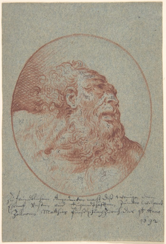 Head of a Bearded Man Looking Right