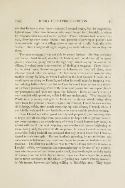 1653] DIARY OF PATRICK GORDON. U   me that he was to stay tliere