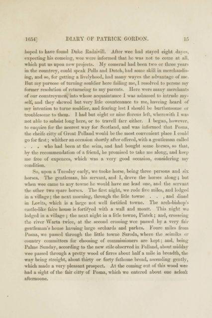 1654] DIARY OF PATRICK GORDON. 15   hoped to have found Duke Radzlvill