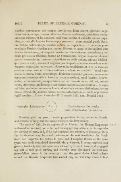 1661] DIARY OF PATEICK GOKDON. 37   sionibus quaecunque sub tempus servitiorum illius contra plurimos