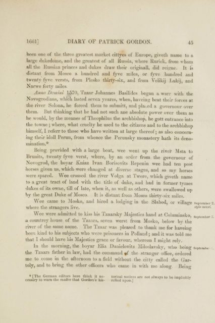 1661] DIARY OF PATRICK GORDON. 45   been one of the three greatest market cittyes of Europe
