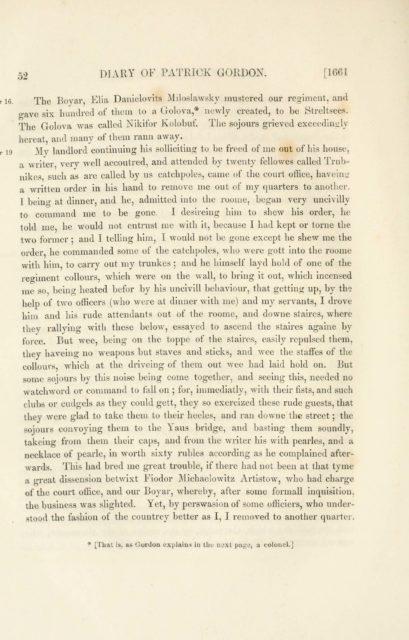 52 DIARY OF PATRICK GORDON. [1661   The Boyar Elia Danielovits Miloslawskj