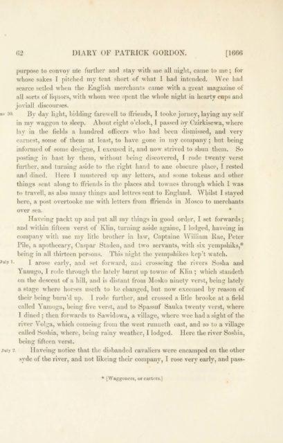 62 DIARY OF PATRICK GORDON. [1666   purpose to convoy