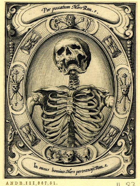 A Skeleton by Alexander Mair 1605