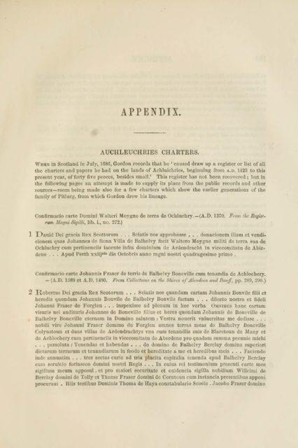 APPENDIX.   AUCHLEUCHRIES CHARTERS