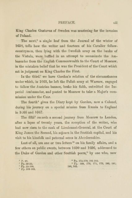 PREFACE. xiii   King Charles Gustavus of Sweden was mustering for the invasion  of Poland.