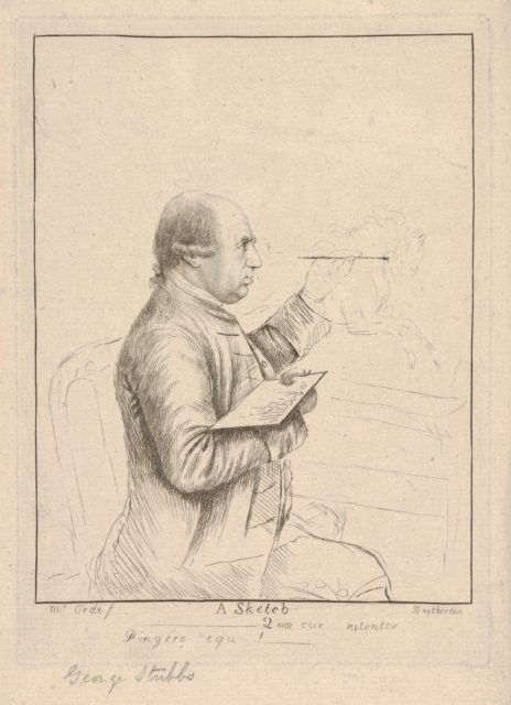 A Sketch (Portrait of George Stubbs)