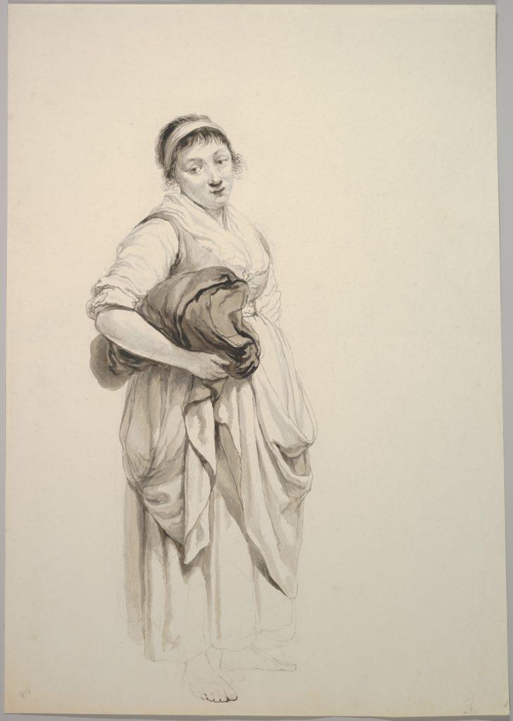 A Standing Young Washerwoman