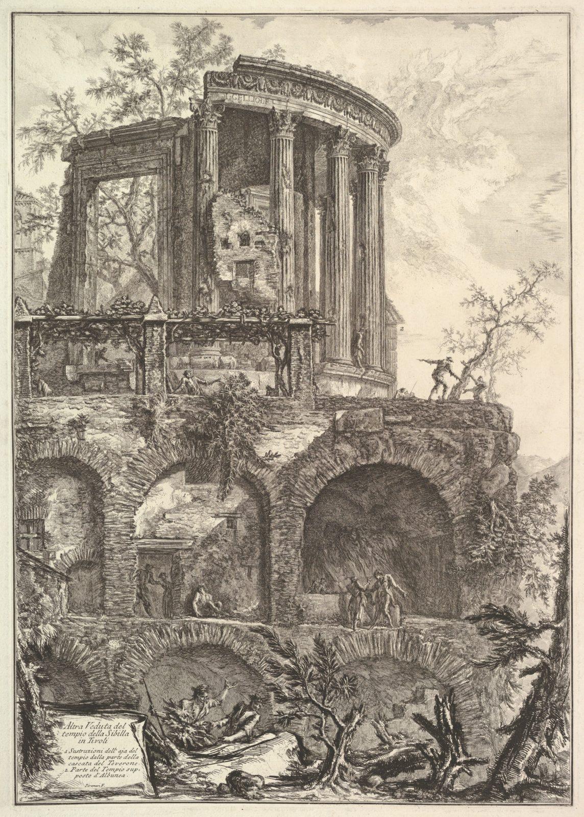 Altra V. del Tempio della Sibilla in Tivoli (Another view of the Temple of the Sibyl in Tivoli)